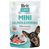 Kapsička pre psov Brit Care Mini Salmon & Herring sterilised Fillets in Gravy 85 g