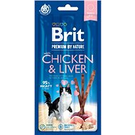 Brit Premium by Nature Cat Sticks with Chicken & Liver 3 ks - Maškrty pre mačky