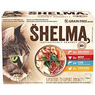 Shelma kapsička pre mačky 2× mäso, 2× ryba 12× 85 g - Kapsička pre mačky