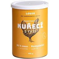 Louie Kompletné krmivo – kuracie (95 %) s ryžou (5 %) 400 g - Konzerva pre psov
