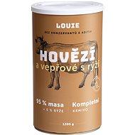 Louie Kompletné krmivo – hovädzie a bravčové (95 %) s ryžou (5 %) 1200 g - Konzerva pre psov