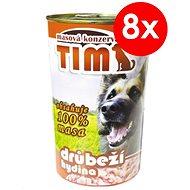 TIM hydinová 1200 g, 8 ks - Konzerva pre psov