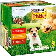 Kapsička pre psov Friskies adult kapsičky s hovädzím, kuracím a jahňacím v šťave 4 × 100 g