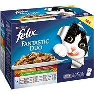 Felix Fantastic Duo lahodný mäsový výber v želé so zeleninou 12×100g - Kapsička pre mačky