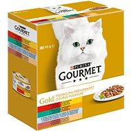 Gourmet gold Multipack Double Pleasure 8×85g - Konzerva pre mačky