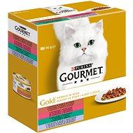 Gourmet gold Multipack kúsky v šťave so zeleninou 8 × 85 g - Konzerva pre mačky
