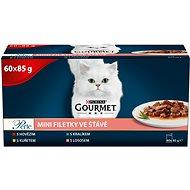 Gourmet Perle multipack minifiletky v šťave mix. výber 60 × 85 g - Kapsička pre mačky