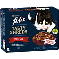 Felix Tasty Shreds lahodný výber v šťave 12×80g - Kapsička pre mačky