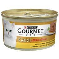 Gourmet gold Melting Heart - Jemná paštéta s omáčkou, s kuraťom 85 g - Konzerva pre mačky