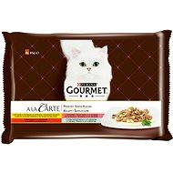 Gourmet A la Carte multipack – kura, hovädzie, pstruh, tmavá treska 4 × 85 g - Kapsička pre mačky