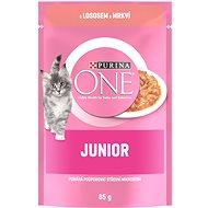 Purina ONE Junior mini filetky s lososom a mrkvou v šťave 85g - Kapsička pre mačky