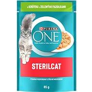 Purina ONE Sterilcat mini filetky s morkou a zelenými fazuľkami v šťavě 85g - Kapsička pre mačky