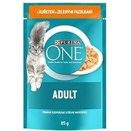 Purina ONE Adult mini filetky s kuraťom a zelenými fazuľkami v šťave 85g - Kapsička pre mačky