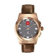MyKronoz ZeTime Premium Pink Gold/Brown - 44 mm - Smart hodinky