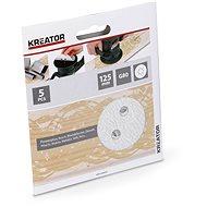 Kreator KRT230555 Súprava brúsnych papierov na farbu G80/125 mm, 5 ks