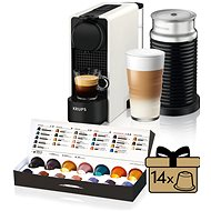 Nespresso Krups XN511110 Essenza Plus White & Aeroccino - Capsule Coffee Machine