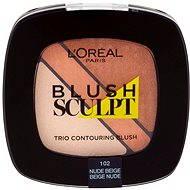 ĽORÉAL PARIS Blush Sculpt Trio Contouring Blush 102 Nude Beige - Lícenka