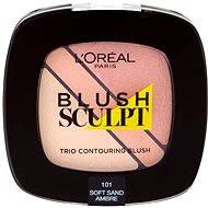 ĽORÉAL PARIS Blush Sculpt Trio Contouring Blush 101 Soft Sand Ambre - Lícenka