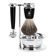 MÜHLE Rytmo Black Pure Badger 4-dielna - Darčeková kozmetická súprava