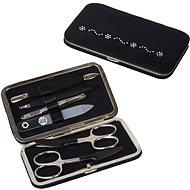 Premium Line Manikúrová súprava s kamienkami Swarovski PL 125 Čierna (kytičky) - Manikúra