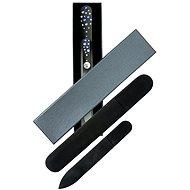 Dukas Sklenený pilník na nechty veľký a malý s kamienkami Swarovski - Modré kamienky - Darčeková kozmetická sada
