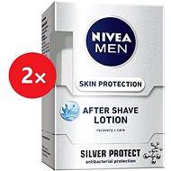NIVEA Men After Shave Lotion Silver Protect 2× 100 ml - Voda po holení