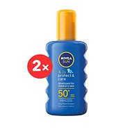 NIVEA SUN Kid's Coloured Spray SPF 50+ 2 × 200 ml