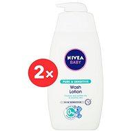 NIVEA Baby Pure & Sensitive Wash Lotion 2× 500 ml - Detský sprchový gél