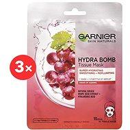 GARNIER Skin Naturals Hydra Bomb Tissue Mask Grape Seed Extract 3× 28 g