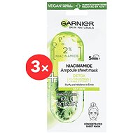 GARNIER Skin Naturals Ampoule Sheet Mask Niacinamide and Kale Extract 3 × 15 g