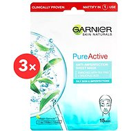 GARNIER Skin Naturals Pure Active Anti-Imperfection Sheet Mask 3× 23 g