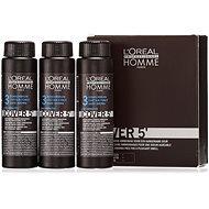 ĽORÉAL PROFESSIONNEL Homme COVER 5' 3 3× 50 ml farba (3 – tmavo hnedá) - Farba na vlasy pre mužov