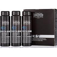 ĽORÉAL PROFESSIONNEL Homme COVER 5' 4 3 x 50 ml (4 - stredne hnedá) - Farba na vlasy pre mužov