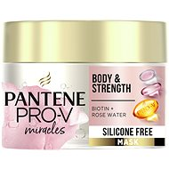 PANTENE Body & Strength Vlasová maska, Biotín + Ružová voda