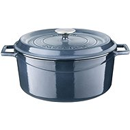 LAVA METAL  RoundCast Iron Pot 28cm - Grey Majolica