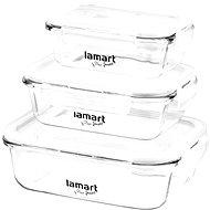 Lamart Súprava sklenených dóz 3 ks Air LT6011 - Súprava dóz