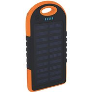 XLAYER Powerbank PLUS Outdoor Solar 4 000 mAh čierny/oranžový - Power Bank