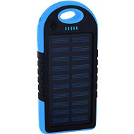 XLAYER Powerbank PLUS Solar 4000 mAh čierno/modrý - Power Bank