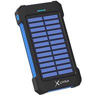 XLAYER Powerbank PLUS Solar 8000 mAh čierno/modrý - Powerbank