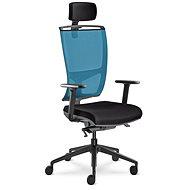 LD Seating Lyra Net modro-čierna - Kancelárska stolička