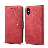 Lenuo Leather na iPhone X/Xs, červené - Puzdro na mobil