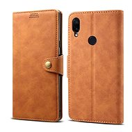 Lenuo Leather na Xiaomi Redmi Note 7, hnedé