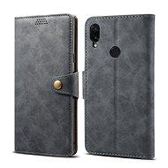 Lenuo Leather na Xiaomi Redmi Note 7, sivé - Puzdro na mobil