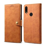 Lenuo Leather na Xiaomi Redmi 7, hnedé