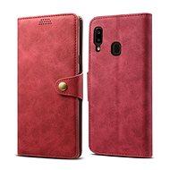Lenuo Leather na Samsung Galaxy A20e, červené