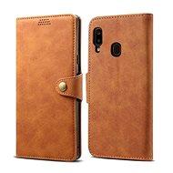 Lenuo Leather na Samsung Galaxy A20e, hnedé
