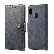 Lenuo Leather na Samsung Galaxy A20e, sivé