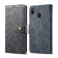 Lenuo Leather na Samsung Galaxy A30, sivé - Puzdro na mobil