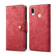 Lenuo Leather na Huawei P30 lite/P30 Lite New Edition, červené - Puzdro na mobil