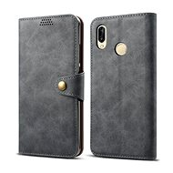 Lenuo Leather na Huawei P30 lite/P30 Lite New Edition, sivé - Puzdro na mobil